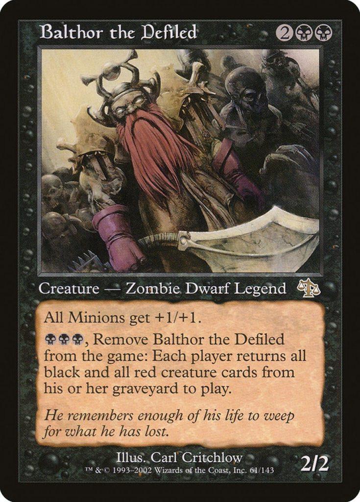 जादू: सभा स्कोरिंग कार्ड - Balthor द डिफाइल्ड
