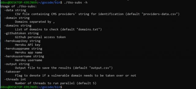 tko-subs - डेड DNS रिकॉर्ड्स के साथ पता लगाएँ और अधिग्रहण करें